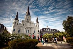 [New Orleans] Saint Louis Cathedral (Cyrielle Beaubois) Tags: christmas sky usa saint clouds louis louisiana cathedral neworleans stlouis cathdrale frenchquarter jacksonsquare louisiane saintlouiscathedral ftes nouvelleorlans 2013 canoneos5dmarkii cyriellebeaubois