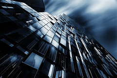 MIRRORS' EDGE (yui fan) Tags: white black reflection japan architecture clouds buildings mirror long exposure line osaka rectangle winodow 500px ifttt
