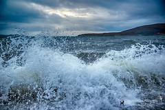 Capturing the Waves (Karen Appleyard Photography) Tags: sea storm beach nature water weather coast scotland highlands nikon natural wave loch d800 ardmair scottosh