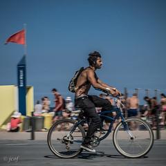 Bicilona (2) (jcof) Tags: barcelona city portrait man color beach gente retrato ciudad bicicleta playa barceloneta hombre cicle
