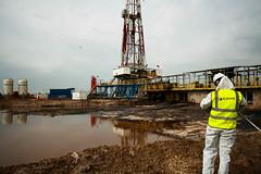 Mud Pit Sampling, Halfaya Oilfield, Iraq