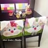 JOGO DE CAPAS DE CADEIRA DE PÁSCOA (*Sonhos e Retalhos Ateliê*) Tags: bunny páscoa feltro patchwork coelho decoração tecido costura aplique capadecadeira