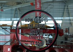 How long is the drive shaft? (Ruth and Dave) Tags: red glass sign whistler lift engineering machinery question cablecar gondola length information circe blackcomb statistic fact driveshaft viewinggallery peak2peak