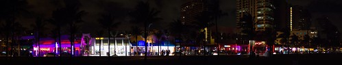 Ft Lauderdale strip at night