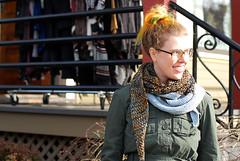 Orri shawl! (-leethal-) Tags: orri shawl knit knitting lace triangle scarf d80