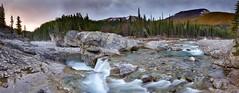 Elbow Falls edit Panorama (John Andersen (JPAndersen images)) Tags: alberta canon clean elbowfalls geology kananaskis morning panorama sunrise