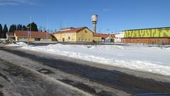 Lukio ja vesitorni, Muhos (jartsf) Tags: lukio school muhos vesitorni watertower college tähtiareena gymnastics voimistelu northfinland pohjoissuomi