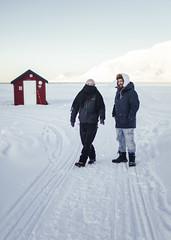 The best of friends (marenkarina) Tags: friends svalbard longyearbyen spitsbergen norge norway portrait couple winter arctic arktis kaldt cold nature landscapephotography landscape visitnorway