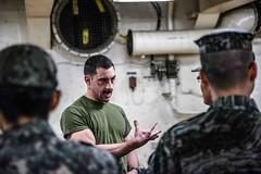 170401-N-JH293-131 (U.S. Pacific Fleet) Tags: ussgb greenbay ussgreenbay lpd20 japan sasebo bhr esg ctf76 forwarddeployed us7thfleet pacific ocean water navy ship sailors wisconsin packers vmm262 31stmeu nbu7 marines bonhommerichard bhresg patrol atsea waterseastofthekoreanpeninsula jpn