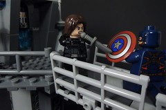 You're My Mission (MrKjito) Tags: lego minifig super hero comic comcis marvel captain america winter solider bucky barnes steve rodgers set hellicarier showdown
