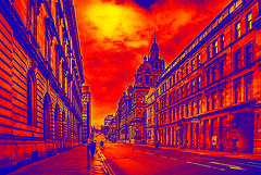 South Frederick Street Glasgow Arty (Brian Travelling) Tags: southfrederickstreet glasgow original arty mono straightroad converginglines perspective people sandstone stone tenement flats appartments citychambers sky skyscape skyline clouds cloud art