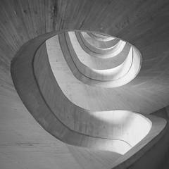 (Dědeček) Tags: valencia cement staircase spiral bw mono square