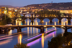 Bridges of Prague (tobfl) Tags: prague charles bridge blue hour