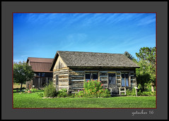 Cabin Heritage Village (the Gallopping Geezer '4.5' million + views....) Tags: building structure old historic heritagevillage mi michigan smalltown rural country countryside backroads backroad museum park display village sidney canon geezer 2016 cabin logcabin log home house dwelling