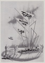 Fantasy Motor Inn (hmdavid) Tags: vintage magazine signsofthetimes midcentury design art sign