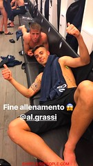 Italian Soccer payer Alberto Grassi shirtless in the dressing room- (SHIRTLESS PEOPLE) Tags: shirtless people hunks hot guys men homme maenner homens hombre