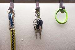 Day Three Hundred and Forty-Six (MBPruitt) Tags: keys bracelet lanyard spare car key house