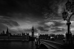 A dark day in Westminster (cliveg004) Tags: london westminster palaceofwestminster westminsterbridge houseofparliament bigben thames sky darkday wearenotafraid prayforlondon