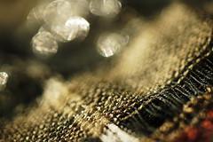 Cloth/Textile - Macro Mondays (kinaaction) Tags: clothtextile macromondays macro texture bokeh brown neckerchief material fabric sonyilce6000