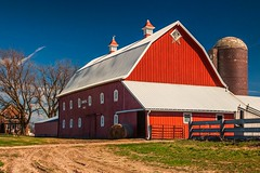 Smith Farm 2 (Thomas DeHoff) Tags: red barn iowa farm blue sky sony a700