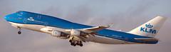 Boeing 747-406 PH-BFV (707-348C) Tags: losangeles thehill lax klax california phbfv airliner jetliner boeing klmroyaldutchairlines klm passenger b744 boeing747