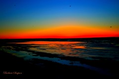 Sunset Over Lake Ontario I (barbarasimpson_photography) Tags: lakeontario sunsets blue orange red calm tranquil water sky portdalhousie ontario canada