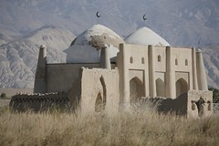 Historical Islamic Architecture Kyrgyzstan Central Asia (eriagn) Tags: mudbrick islamic architecture history historical brick remote abandoned mountains countryside crescent dome domed landscape goldenage islam silkroad rural mountainous valley climate habitat people asia centralasia kyrgyzstan yurt mountain frame wood sticks portable eriagn canon travel traditional nomad nomadic gettyimages shadows ngairelawson travelphotography structure texture blue sky summer agriculture tianshan threadsinthesand ethnic kyrgyz ngairehart eos