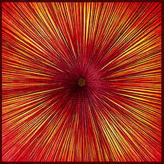 Silk Art (docoverachiever) Tags: colorful squareformat art ceiling bright abstract object radialsymmetry red manmade fabric light fcgiconwinner flickrchallengewinner flickrchallengegroup