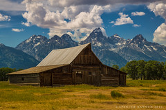 On the Moulton Ranch (Spencer Bawden Photography) Tags: grand teton national park wyoming moulton barn ranch mountains rocky snow capped spencer bawden spazoto farm