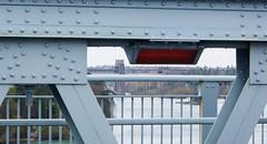 Britannia bridge from the Menai bridge. (cymrost) Tags: britanniabridge menaibridge anglesey wales metalwork