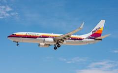 American (AirCal Livery) - Boeing 737-823 - N917NN (ejtope) Tags: n917nn klas las mccarran aviation boeing american airlines aircal 737823 aircraft airplane 737 738