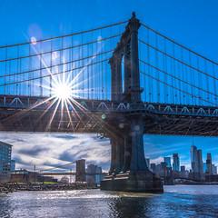 Dumbo Sunburst (brucenmurray) Tags: brooklyn carlosalvarado dumbo manhattanbridge brooklynbridge freedomtower sunburst nyc nycbridges