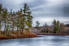 Receding-Ice (desouto) Tags: nature landscape trees skt rivers lakes snow ice sky sunrise sunset colors