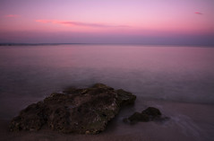 A Still Sunset (Andrew.King) Tags: rock shore cyprus sunset beach sand waves blur movement long exposure warm temperature colour milky water clouds sun nikon d7100 cokin nd filters landscape composition