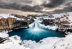 Ice Falls (MRC Imagery) Tags: iceland aldeyjarfoss waterfall water snow winter landscape longexposure basalt akureyri ice cold clouds cloud cloudy 5dmk3 1635mm adventure