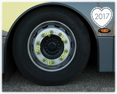 Yellow - Bus Detail (YetAnotherFreshStart) Tags: blackpool bus wheel heart yellow 2017 2017project52