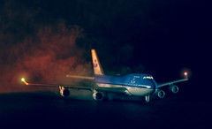 mayday (ChristianMandel) Tags: ilce7 sonya7 plane airplane miniatureplane boeing boeing747 747 smoke fire model mayday