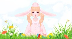Happy Easter! (Cakettes) Tags: easter easter2017 femboy kawaii pink secondlife catwabento