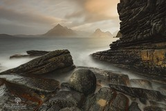Elgol Stone (Dave Brightwell) Tags: scotland elgol isleofskye scotspirit photography skye joecornish leefilters formatthitech nisifilters longexposure 10stop seascape landscape rocks canon cuillins mountains manfrotto lowepro