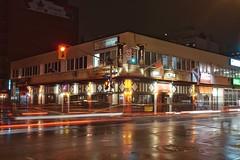 Sens Mile to be (beyondhue) Tags: elgin street night spring pub corner ottawa sens mile beyondhue nhl hockey team deacon brodies long exposure trailing light dark evening