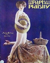Paris Plasiers Magazine (kevin63) Tags: lightner vintagecheese facebook old vintage retro antique photo picture women sexy twenties 20s model posed colorized cover magazine french parisplasiers showgirl dancer chorus madgebellamy foxpictures studio american hat highheels basket nude covering marcel wave hair