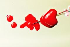 "Macro Mondays – Theme - ""Crime"" (eggii) Tags: macromonday heart macro red crime project project365"