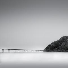 Hong Kong - Zhuhai - Macau Bridge (Fern Blacker) Tags: longexposure hongkong taio zhuhai bridge blackandwhite landscape water