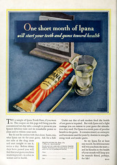 Ipana Toothpaste Advertisement (kevin63) Tags: lightner photoplay photoshop internetarchive magazine twenties 20s 20thcentury 1920s oil vintage retro antique ipana toothpaste tube advertisement toothbrush color photo bristolmeyers coupon gums healthy