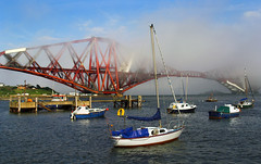 Mist on the Forth (PJ Swan Photography) Tags: firth forth sea mist haar bridge