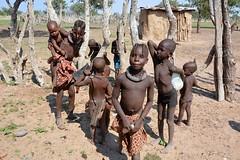 Himba children in a village in Kaokoland, Namibia. (One more shot Rog) Tags: himba nature namibia tribal rtibes tribe safari himbavillage himbtribe womanhimba peoplemakeupmake upbradesremotetraditionaltraditionone more shot rogroger sargent wildlife photographyafricanafrica safariova ovahimba damara herero
