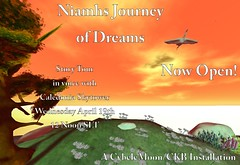 Niamhs Journey Opening Poster (Ceakay Ballyhoo) Tags: watercolour watercolor sl second life installation art storytelling celtic forest trees fairytale storybook