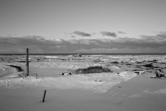 By the sea.. on the 41 (Daniel Caridade) Tags: landscape sea house bw black white mar snow casa preto branco iceland route estrada paisagem neve pb 41 islândia