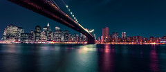 The night, Brooklyn Bridge and New York. (The city guy ☺) Tags: cityscapes city colors neighborhood newyork walking waterways walkingaround cityscape outdoors exploration bridge brooklynbridge