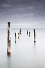 Poles (Graeme_Wilson) Tags: long exposure north wales jetty poles sea seascape nd filter grads